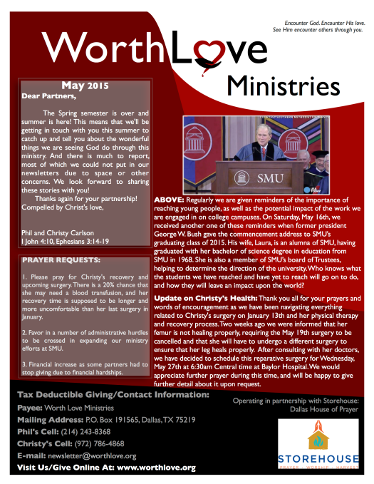 WLM newsletter May 2015